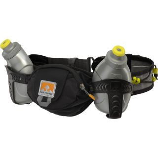 NATHAN Trail Mix Water Bottles and Belt, Black