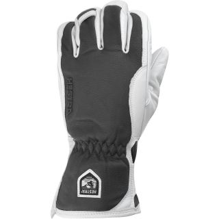 HESTRA Alpine Pro Leather Wool and Merino Gloves   Size: 8, Grey/off White