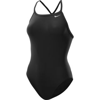 NIKE Womens Core Solid Lingerie Tank One Piece Swimsuit   Size 32, Black