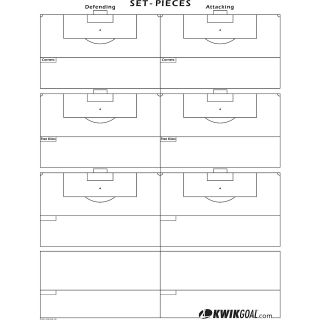Kwik Goal Set Pieces Soccer Chart (18A1102)