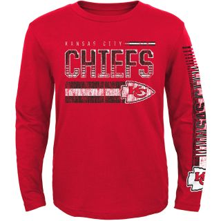 NFL Team Apparel Youth Kansas City Chiefs Rewind Forward Long Sleeve T Shirt