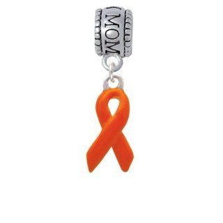 Orange Ribbon Mom Charm Bead [Jewelry] Delight Jewelry: Delight Jewelry: Jewelry