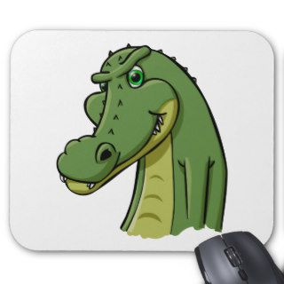 Cartoon Crocodile Mouse Mat