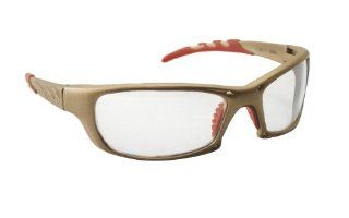 SAS Safety 542 0100 GTR Eyewear with Polybag, Clear Lens/Gold Frame   Safety Glasses