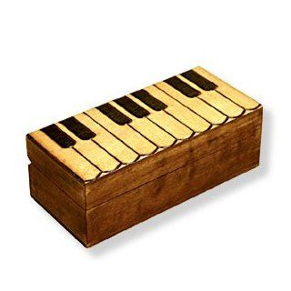 "Wooden Box, 5035, Polish Handcrafted Keepsake Box with Keyboard Design for the Piano Lover This Box Is 7""x3.5""x1.25"". : Home Decor Products : Everything Else"