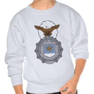 United States Air Force Security Forces Badge Pull Over Sweatshirts