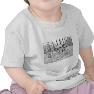 fram tractor black and white drawing tee shirts