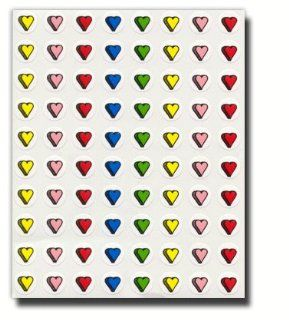 Pioneer Plus Stickers, Mini Hearts, Classic Acid Free, Assorted Color  80 Stickers Per Page, 4 Pages, 320 Stickers in All  Perfect for Scrapbooking and Card Making  Great for Primary Children and LDS Families  Primary, Young Women, Young Men, Relief Societ