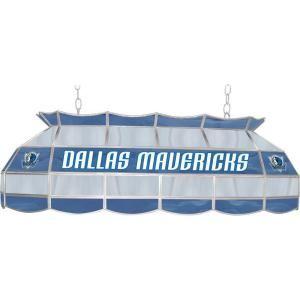 Trademark Global NBA Dallas Mavericks NBA 3 Light Stained Glass Hanging Tiffany Lamp NBA4000 DM