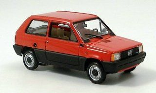 Fiat Panda, red, 1980, Model Car, Ready made, Minichamps 143 Minichamps Toys & Games