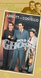 Abbott & Costello: Hold That Ghost [VHS]: Bud Abbott, Lou Costello, Richard Carlson, Joan Davis, Mischa Auer, Evelyn Ankers, Marc Lawrence, Shemp Howard, Russell Hicks, William B. Davidson, Ted Lewis, The Andrews Sisters, Elwood Bredell, Arthur Lubin,