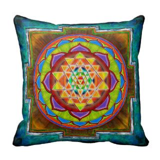 Intuition Sri Yantra II. Throw Pillow