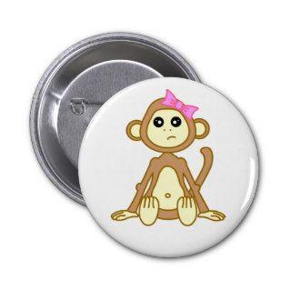 Cute Monkey Girl Cartoon Pins