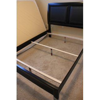 Black Leatherette Queen Bed by Poundex Home & Kitchen
