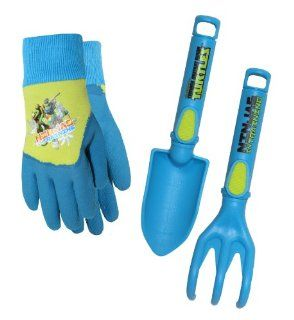 Midwest Gloves and Gear TM14P04 Teenage Mutant Ninja Turtles Gloves with Trowel and Cultivator Combo Pack  Garden Tool Sets  Patio, Lawn & Garden