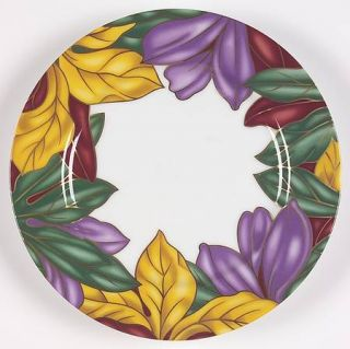 Fitz & Floyd Cloisonne Tropicana Salad Plate, Fine China Dinnerware   Multicolor