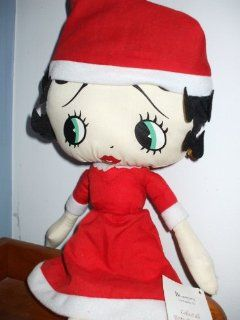 "17"" Betty Boop Mrs. Claus Dress & Cap Collectible Plush Doll: Toys & Games"