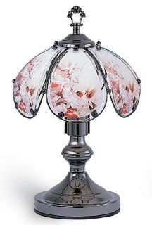 "NEW Humming Bird Floral 6 Panel 14"" Accent Touch Lamp 603C HC5: Everything Else"