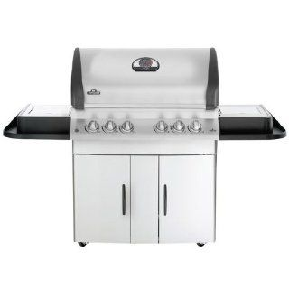 Napoleon Mirage Series M605RSBIPSS1 70'' Freestanding Gas Grill with 850 sq. in. Standard flush mount 11,000 BTU side burner and Patented 304 stainless steel WAVE rod cooking grids. Full width removable drip pan for easy clean ups Liquid Propane