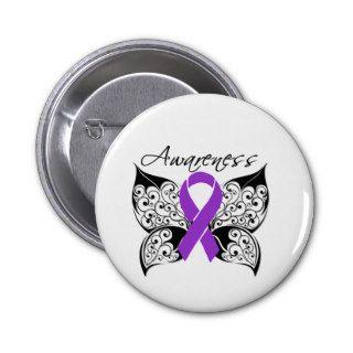 Tattoo Butterfly Awareness   Epilepsy Pinback Button