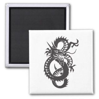Dragon Serpent Tattoo Fantasy Fiction Drawing Art Fridge Magnet