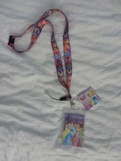 Princess Pink Disney Lanyard with Key Chain Clip & ID Card Holder: Automotive