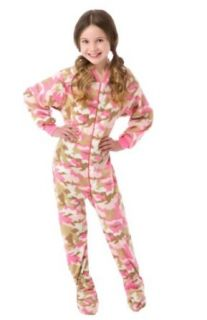 Big Feet Pjs Pink Camo (604) Kids Footed Pajamas: Clothing