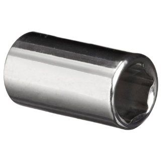 """Martin MM608 8mm Type II Opening 1/4"""" Square Drive Socket, 6 Point Standard, 21.1mm Overall Length, Chrome Finish Industrial & Scientific"""