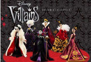 Disney Villains Designer Collection Doll Set of 6 Maleficent, Queen of Hearts, Mother Gothel, Ursula, Cruella De Vil, Evil Queen Toys & Games