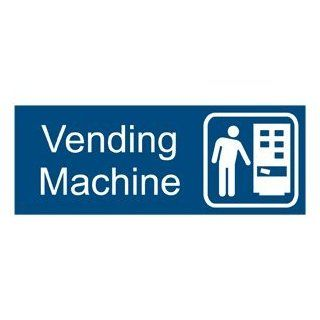 Vending Machine With Symbol Engraved Sign EGRE 630 SYM WHTonBLU  Business And Store Signs