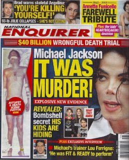 Michael Jackson Autopsy & Death Scene Photos, Annette Funicello Tribute, Rare LeAnn Rimes Photos   April 22, 2013 National Enquirer Magazine : Other Products : Everything Else