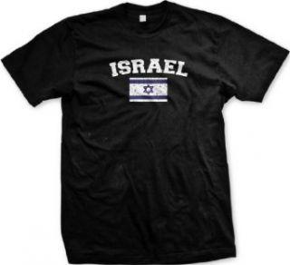 Israel Flag International Soccer T shirt, Israeli National Pride Mens Shirt Clothing