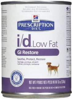Hill's Prescription Diet i/d Low Fat GI Restore Canine Canned Dog Food, 13 oz, case of 12  Pet Food
