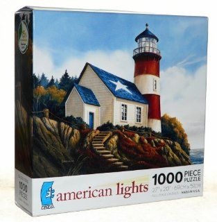"""Ceaco American Lights """"Liberty's Light"""" 1000 Piece Jigsaw Puzzle Toys & Games"""