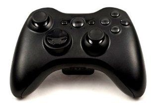 """Xbox 360 controller (modded) """"All Black """" , All Black Buttons, Two additional modes (10 Modes Dual Rapid Fire + Fast Aim Fire) Wireless Original Microsoft controller Xbox 360 (modded) ,the Best for MW1.2.3 , COD , BATTLEFIELD , HALO , other Shoot"""