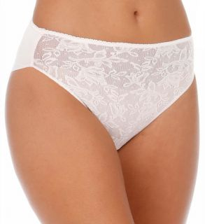 Naomi & Nicole A1054 Wonderful Edge Lace Front Hi Cut Brief Panty