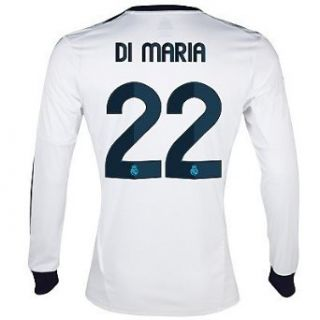 Adidas DI MARIA #22 Real Madrid Home Jersey Long Sleeve 2012 13: Clothing