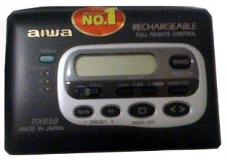 Aiwa HS RX658 is the Top of the line Walkman,Digital AM FM Stereo Tuner with Auto reverse Cassette Player, and REMOTE Control.: Electronics