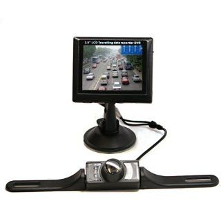 BackCam Universal Wireless Car Backup Camera + Night Vision w/ 3.5'' Slim TFT Color LCD Monitor   License Plate Mount Camera NTSC/PAL : Vehicle Backup Cameras : Car Electronics
