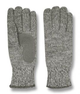 Isotoner Womens Microluxe Lined Marled Stretch Knit Gloves, One Size, Oxford Heather at  Women�s Clothing store