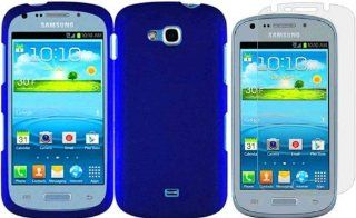For Samsung Galaxy Axiom R830 Hard Cover Case Blue+LCD Screen Protector Cell Phones & Accessories