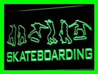 ADV PRO i709 g Skateboard Training NR Beer Bar Neon Light Sign
