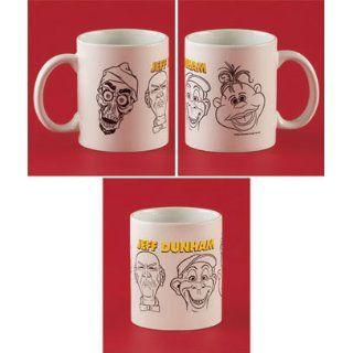 Jeff Dunham Coffee Mug   Achmed, Walter, Peanut, & Bubba J   White 10 ounces: Kitchen & Dining