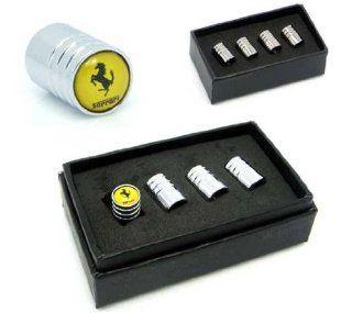 Ferrari Car Wheel Tire Valve Stem Caps(yellow) Automotive