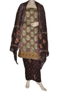 Indian Bohemian Bandhej Salwar Suit Bandhani Party Wear Salwar Kameez: Clothing