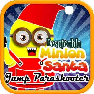 Despicable Minion Santa Jump Parashooter: Help our Santa Claus skydiving parachute landing safely to Christmas chimney: Appstore for Android