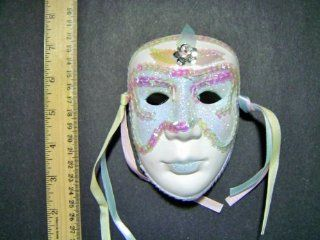 Ceramic Mardi Gras Face Mask for Wall   204 Blue  Other Products