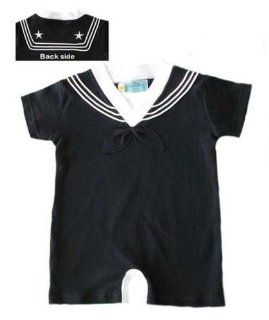 #702 U.S. Navy 1pc Black Sailor Suit, Creeper 9 12 Months  Infant And Toddler Bodysuits  Baby