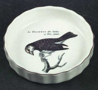 Villeroy & Boch Paradiso (Brown Trim & Band) Quiche 4, Fine China Dinnerware