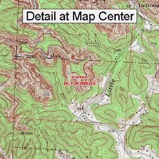 USGS Topographic Quadrangle Map   Ironton, Ohio (Folded/Waterproof)  Outdoor Recreation Topographic Maps  Sports & Outdoors